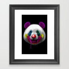 PANDA CLOWN Framed Art Print