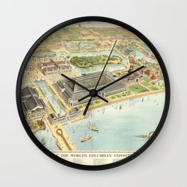 World Columbian Exposition in chicago 1893 Wall Clock