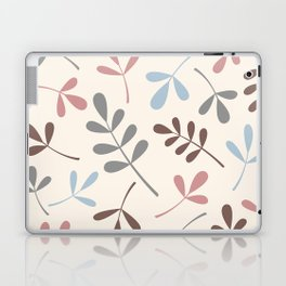 Assorted Leaf Silhouettes Pastel Colors Laptop & iPad Skin