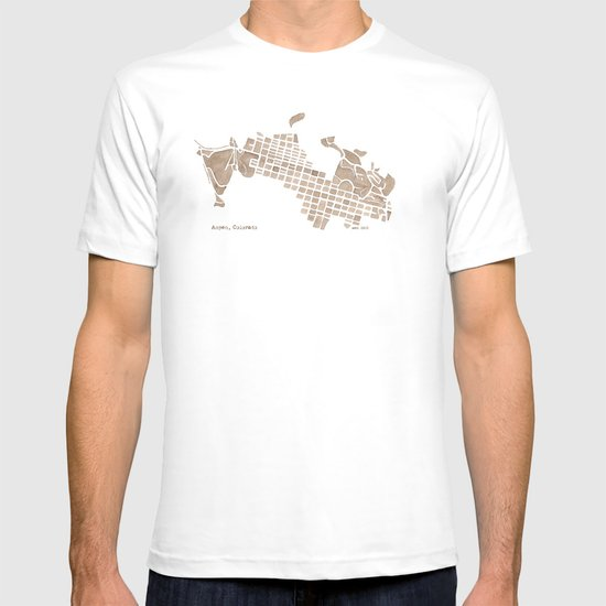 Aspen Colorado watercolormap T-shirt