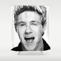niall horan Shower Curtains featuring Niall Horan - One Direction by jrrrdan