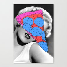 Pizza on her Mind Canvas Print