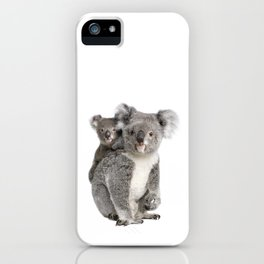 Koala bear and her baby iPhone Case
