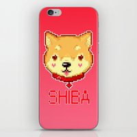 shiba iPhone & iPod Skins featuring Shiba  by SCAD Illustration Club