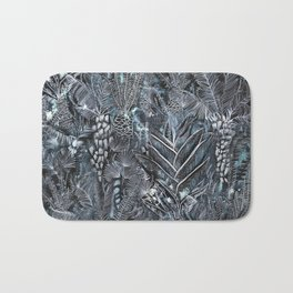Busy Forest Print Bath Mat