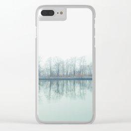 Foggy Cliffs Clear iPhone Case