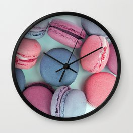 Berry Macarons Photograph Wall Clock