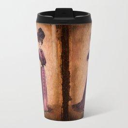 Girl in purple dress, Edwardian style  Travel Mug