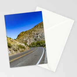 Highway Road Cutting through the Mountains in the Anza Borrego Desert, California, USA Stationery Cards