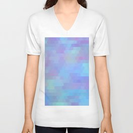 Color Vibe abstract geometric Unisex V-Neck