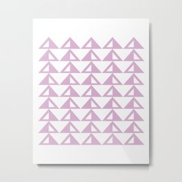 Lavender Triangle Pattern Metal Print