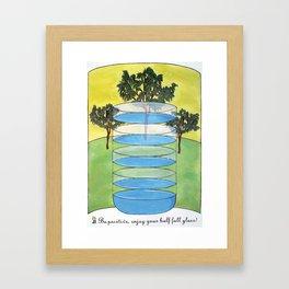 A Glass Half Full  Framed Art Print