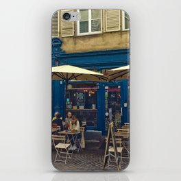 Sunday morning at the Cafe in Strasbourg iPhone Skin