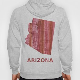 Arizona map outline Indian red stained wash drawing Hoody