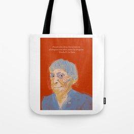 Ursula K. Le Guin portrait + quote Tote Bag