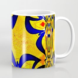 Abstract geometric infinite celestial multi shaped star burst pattern design in multicolors Coffee Mug