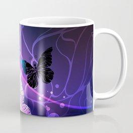 Background with Night Butterflies Coffee Mug