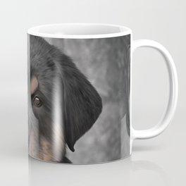 Drawing Puppy rottweiler Coffee Mug