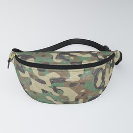Distressed Army Camo Fanny Pack