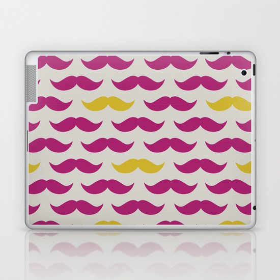 Mustache pattern Laptop & iPad Skin