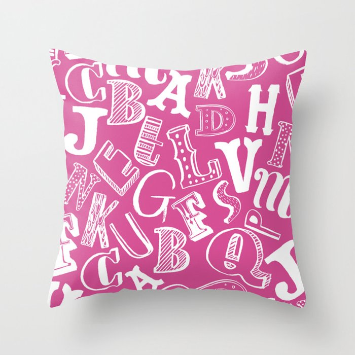 A-Z Throw Pillow