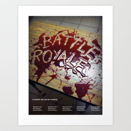 Battle Royale - Japanese film poster Art Print