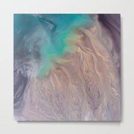 The abstract swirl of beach life Metal Print