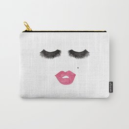 Glam Lips and Lashes Watercolor Carry-All Pouch