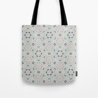 gold dots Tote Bags featuring dots by Designed by Ruth