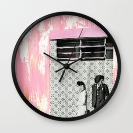 The Pink House Wall Clock