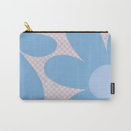 Flower Land - BIG - Lilac and Blue Carry-All Pouch
