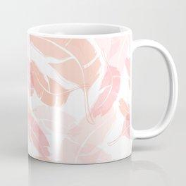 Pink Banana Leaves Coffee Mug