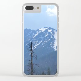 Blue Mountain Clear iPhone Case