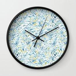 palm garden pattern Wall Clock