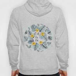 Tropical Leaves Ooh La La // Yellow Dark Green Palette Hoody
