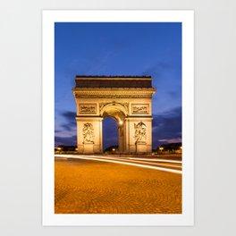 PARIS Arc de Triomphe Art Print