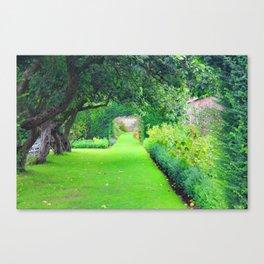 British country garden Canvas Print