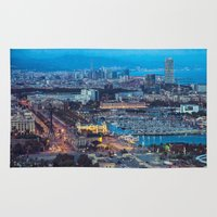 barcelona Area & Throw Rugs featuring Barcelona by AnnaGo
