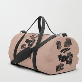 Weapons Of Mass Creation - Photography (blk on brown) Duffle Bag