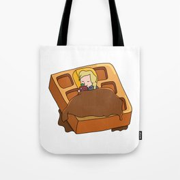 Leslie Knope + Giant Waffle Tote Bag