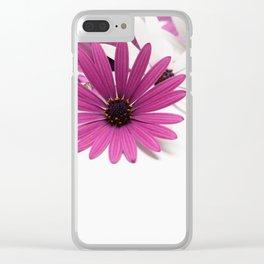 Fleur violette Clear iPhone Case