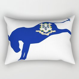 Connecticut Democrat Donkey Flag Rectangular Pillow