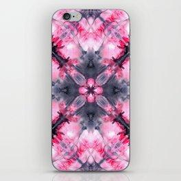 Watercolors pink medieval kaleidoscope iPhone Skin