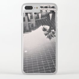 Palm Tree reflection Clear iPhone Case