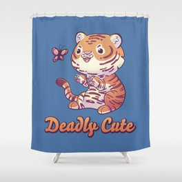 Deadly Cute Tiger Shower Curtain