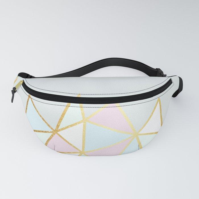 Gold & Pastel Geometric Pattern Fanny Pack
