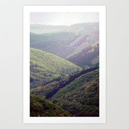 wooden valley. Art Print