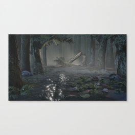 Somber Swampland Canvas Print