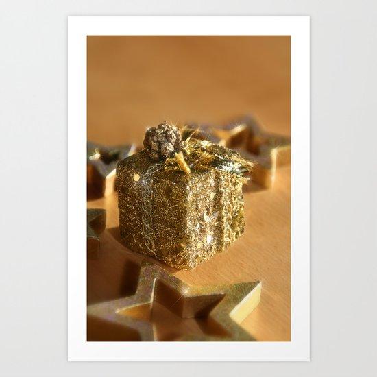 GOLDEN XMAS Art Print