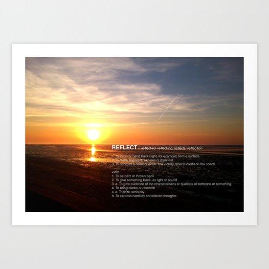 REFLECT THE SUNSET Art Print